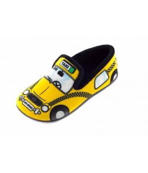 Домашние детские тапочки AXA Piccolo taxi желтые