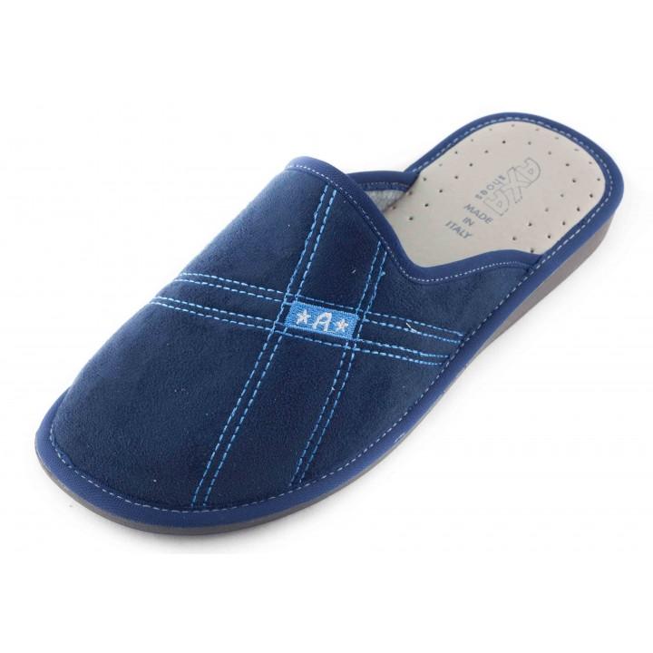 Домашние мужские тапочки AXA Stelle Personali синие