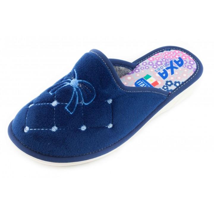 Домашние женские тапочки AXA Arco e Diamante синие