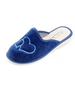 Домашние женские тапочки AXA Due Amori синие