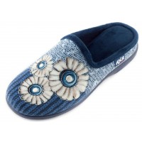 Домашние женские тапочки AXA Filo di camomilla синие