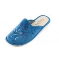 Домашние женские тапочки AXA Fiori D'amore голубые