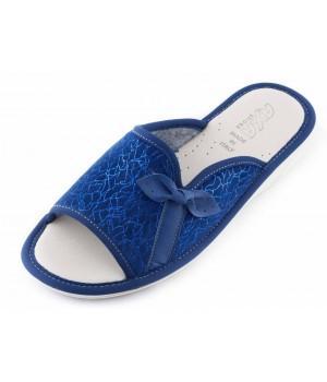 Домашние женские тапочки AXA Fulmini arco синие