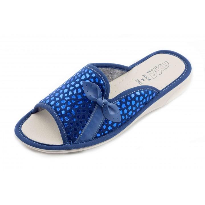 Домашние женские тапочки AXA Piazza Aperta голубые