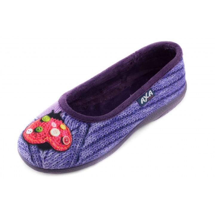 Домашние женские тапочки AXA Piccolo fiore фиолетовые