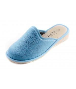 Домашние женские тапочки AXA Strisce di ballo голубые