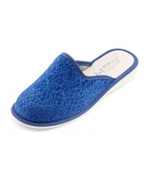 Домашние женские тапочки AXA Strisce di ballo синие