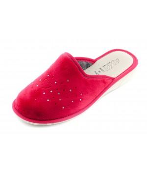 Домашние женские тапочки AXA Сuore della stella красные