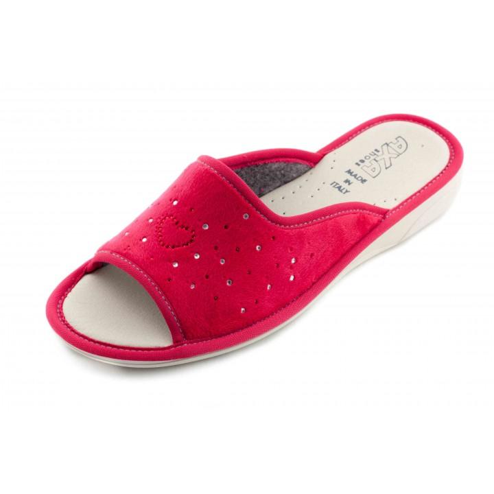 Домашние женские тапочки AXA Сuore Вella Stella красные