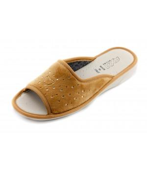 Домашние женские тапочки AXA Сuore Вella Stella светло-коричневые
