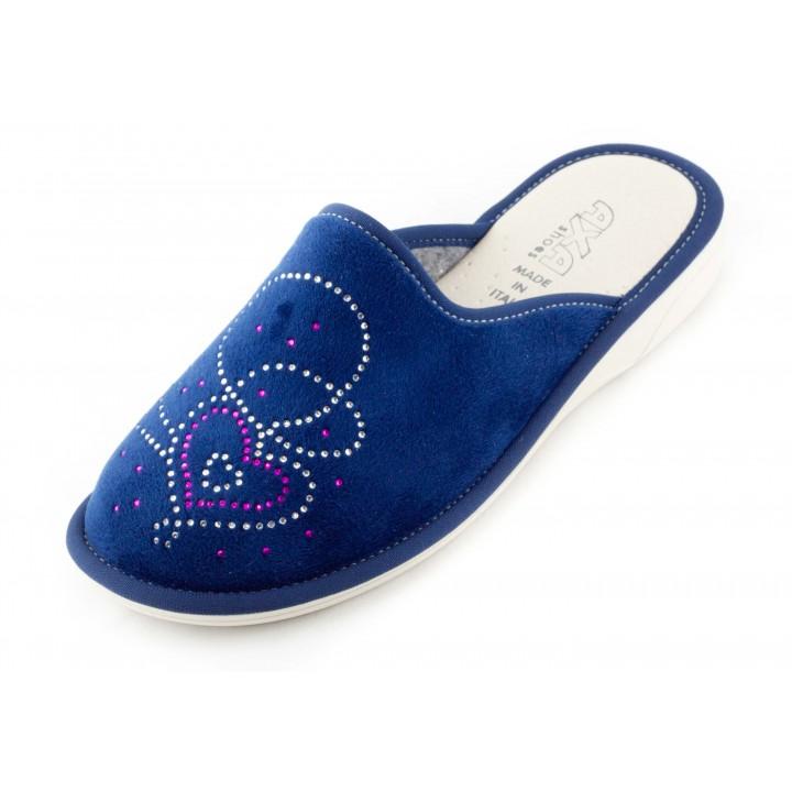 Домашние женские тапочки AXA Сuori Fioriti синие