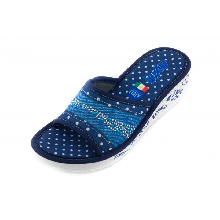 Домашние женские тапочки AXA Ti amo синие