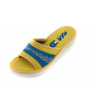 Домашние женские тапочки AXA Ti amo желтые