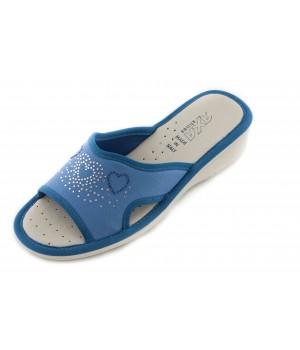 Домашние женские тапочки AXA Tre Сuori голубые