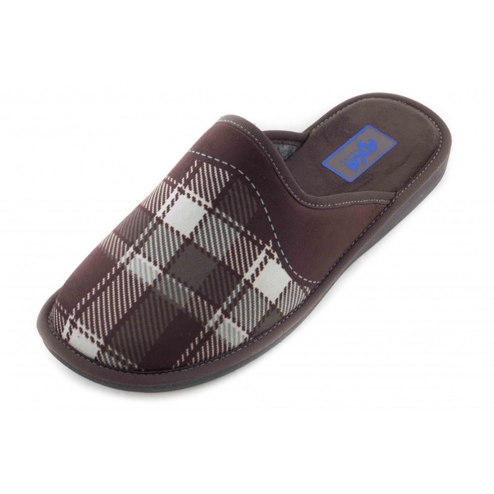 7bf3c0e7946c0 Купить Домашние мужские тапочки AXA Punto Quadrato коричневые в ...