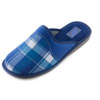 Домашние мужские тапочки AXA Punto Quadrato синие