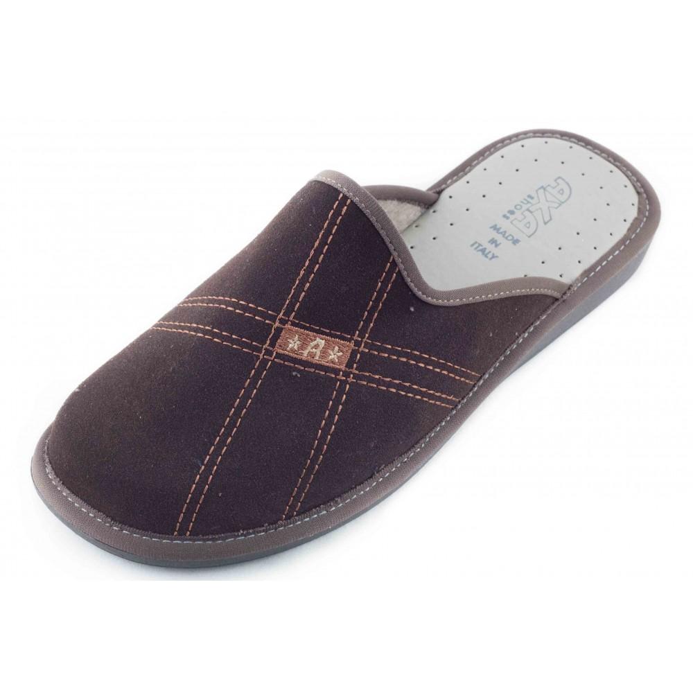 b3ed03c3f4c66 Домашние мужские тапочки AXA Stelle Personali темно-коричневые