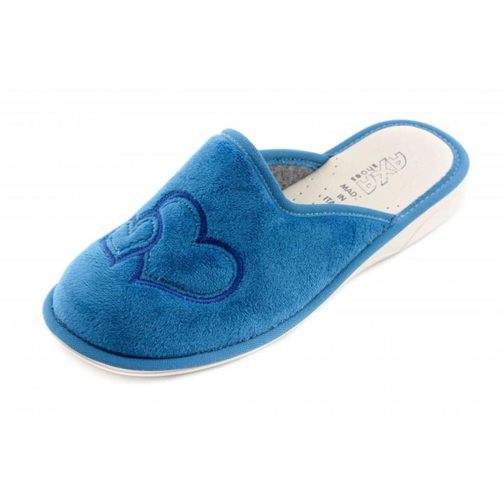 Домашние женские тапочки AXA Due Amori голубые