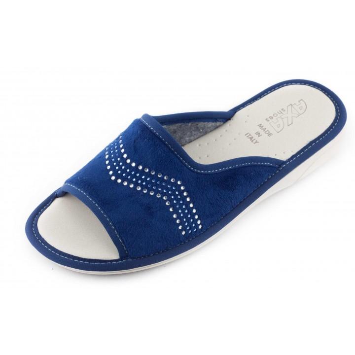 Домашние женские тапочки AXA Striscia di pietre синие