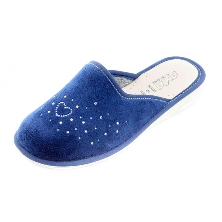 Домашние женские тапочки AXA Сuore della stella синие