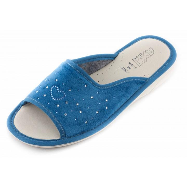 Домашние женские тапочки AXA Сuore Вella Stella Голубые