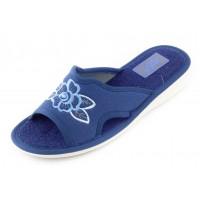 Домашние женские тапочки AXA Argentei Petali синие