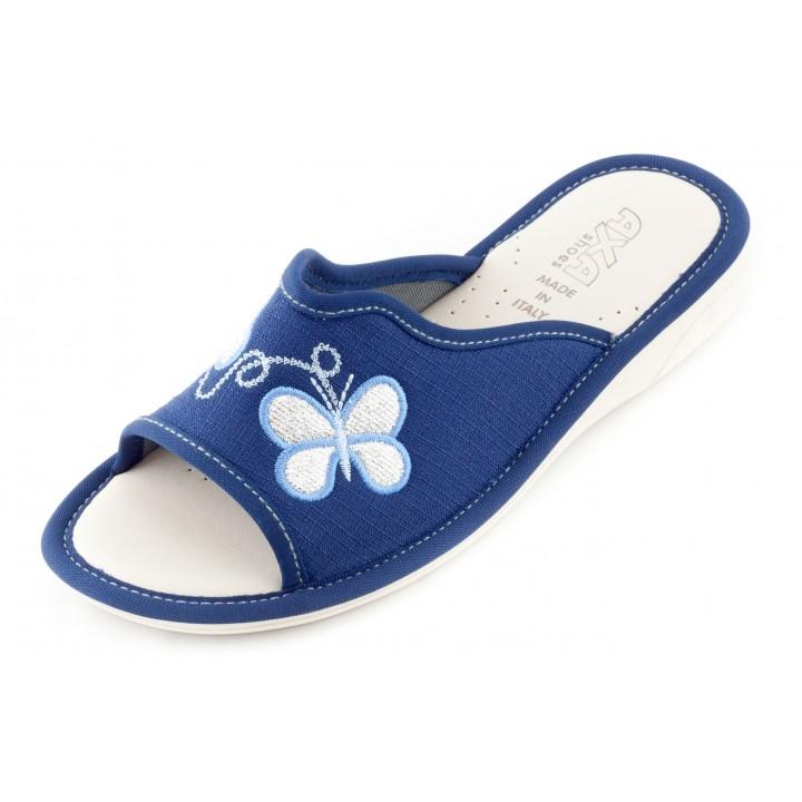 Женские тапочки AXA Farfalla Sorella синие