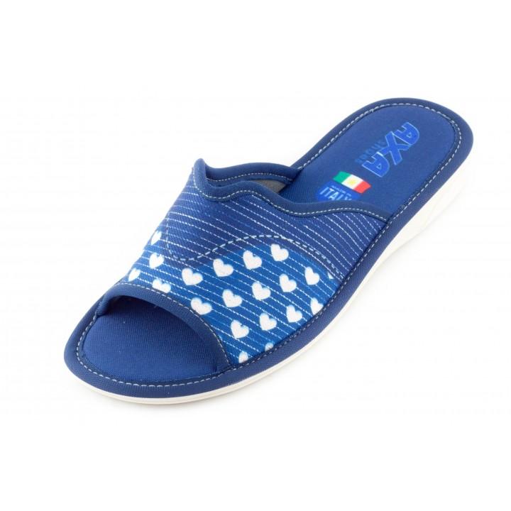 Женские тапочки AXA Ondata di Cuore синие