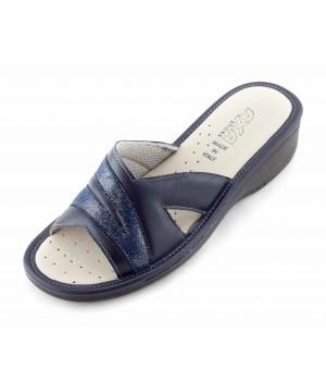 Женские тапочки Linea Tenera синие