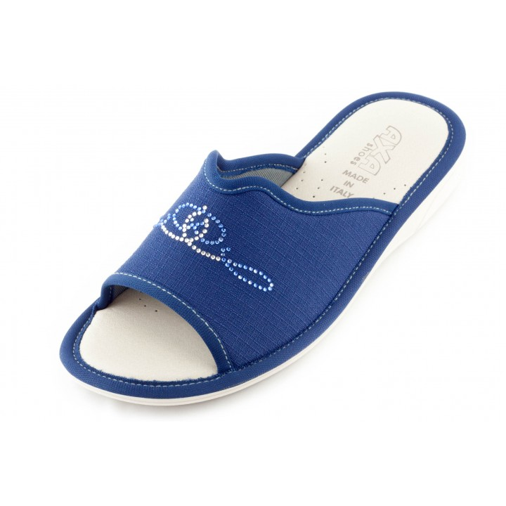 Женские тапочки AXA Argentei Adamantino синие