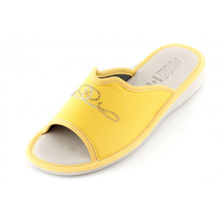 Женские тапочки AXA Argentei Adamantino желтые