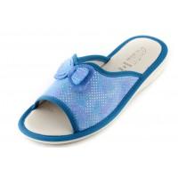Женские тапочки AXA Punto di Fiocco голубые
