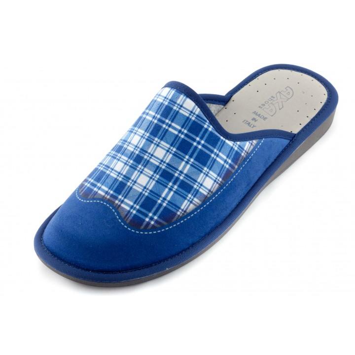 Домашние мужские тапочки Plaid Di Pare Blu