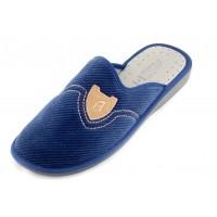 Домашние мужские тапочки Prima Lettera Blu