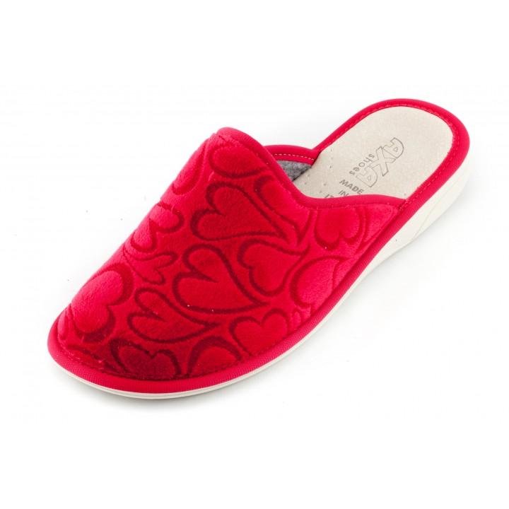 Женские тапочки Danza dei Сuori Rosso