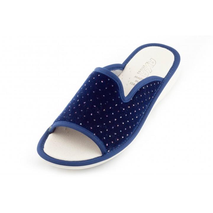Женские тапочки Velluto Reale Blu