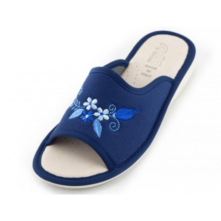 Женские тапочки Tre Fiori e un Fiore Blue