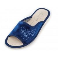 Домашние женские тапочки AXA Fascino libellula di strass Blue