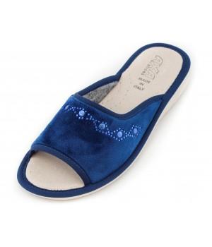 Домашние женские тапочки AXA Confortevole con motivo ornamento Blue
