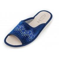 Домашние женские тапочки AXA Relax con paillettes Blue