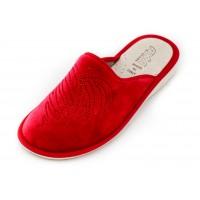 Домашние женские тапочки AXA Cuore originale di strass Rosso