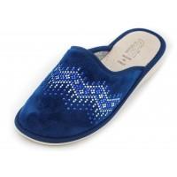 Домашние женские тапочки AXA Мodello di cristallo Blue