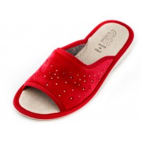 Домашние женские тапочки AXA Velluto Rosso