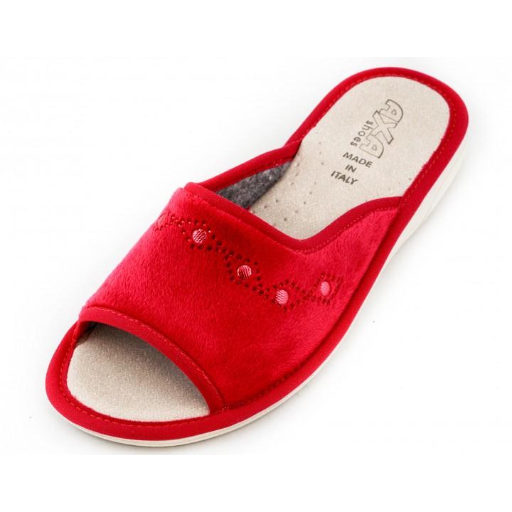 Домашние женские тапочки AXA Confortevole con motivo ornamento Rosso