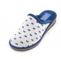 Домашние женские тапочки AXA Comfort su suola in sughero Blue