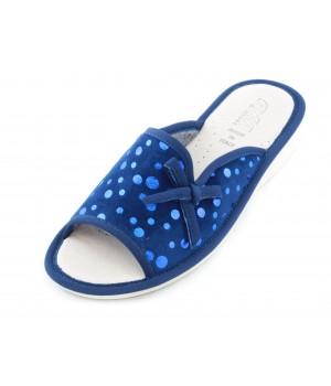 Домашние женские тапочки AXA Piselli lucidi Blue