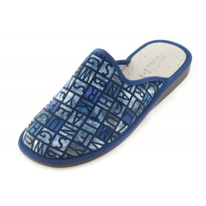 Мужские домашние тапочки AXA Modello Alfabetico Blue