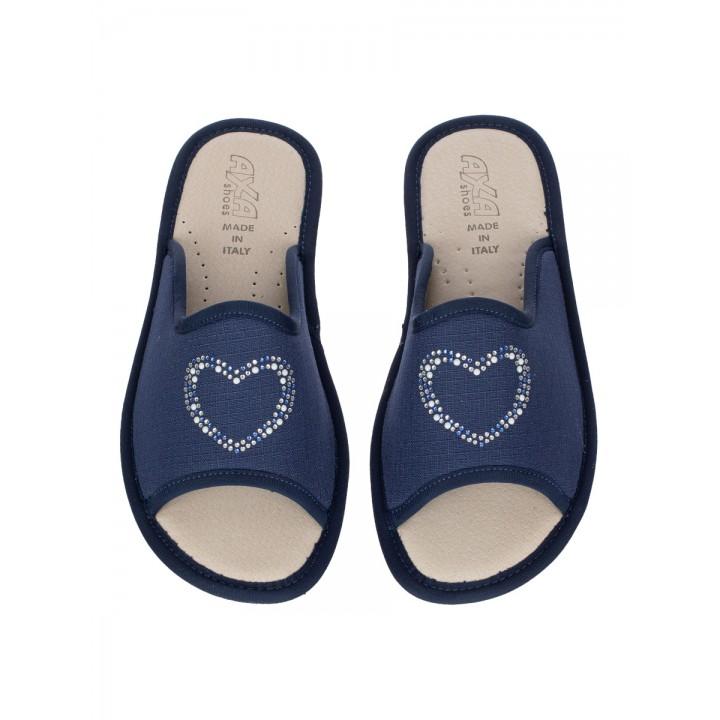 Домашние женские тапочки AXA Cuore Amorevole Blue
