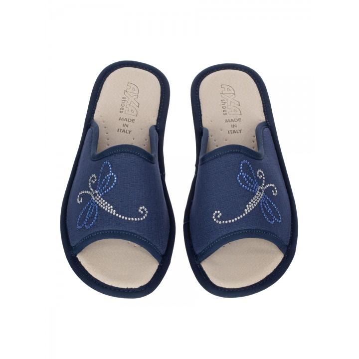 Домашние женские тапочки AXA Dolce Libellula Blue