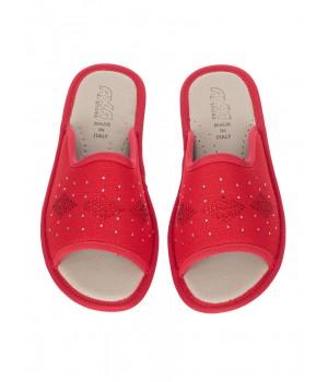 Домашние женские тапочки AXA Figura Rombo Rosso